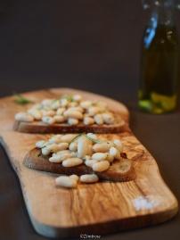Cannellini Bohnen Bruschetta